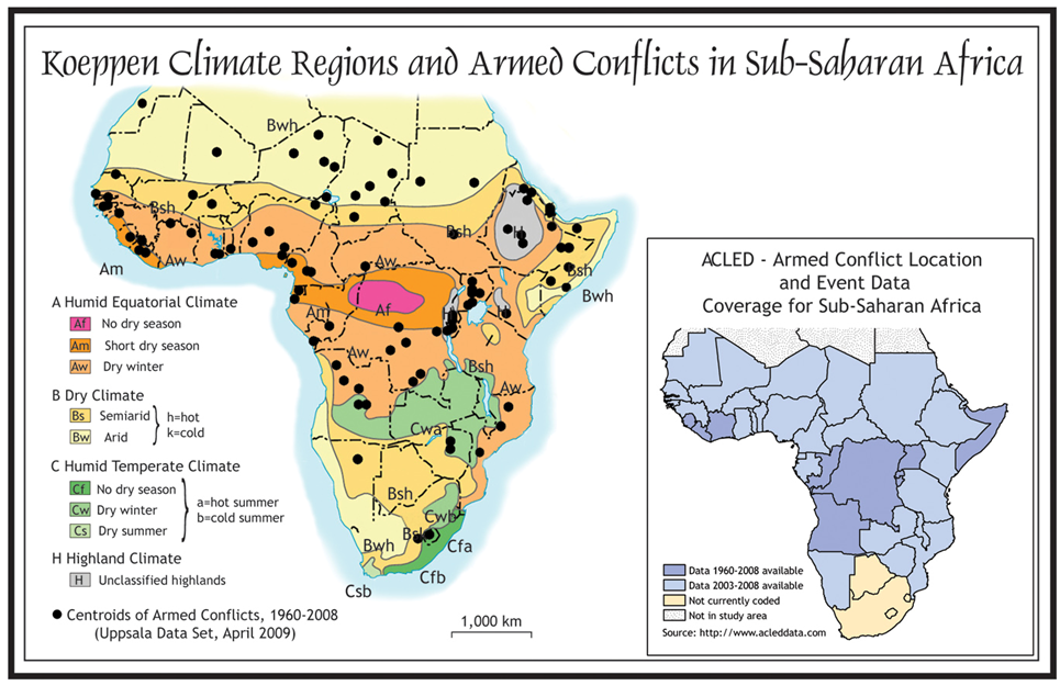 Climate ChangeVariability And Armed Conflicts In SubSaharan Africa - Regions of africa