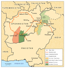 Afganistan-Pakistan War map