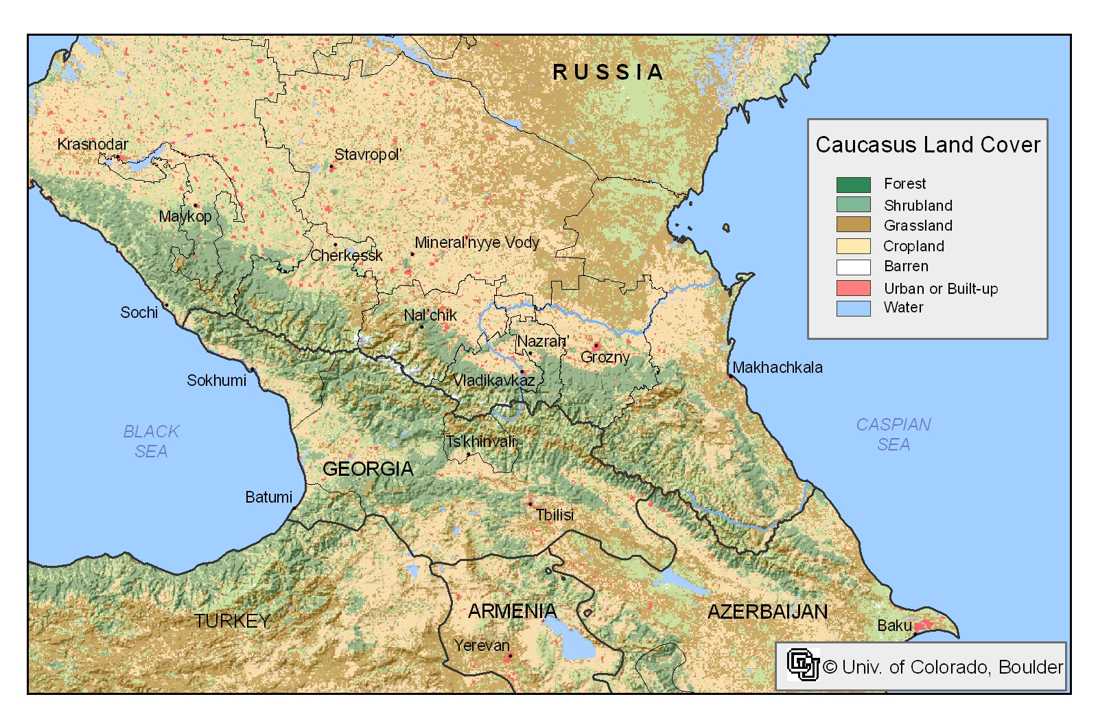 Download Your Maps HERE » caucasus mountains map | World Maps Collection