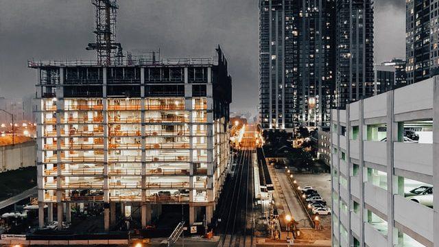 Large building construction